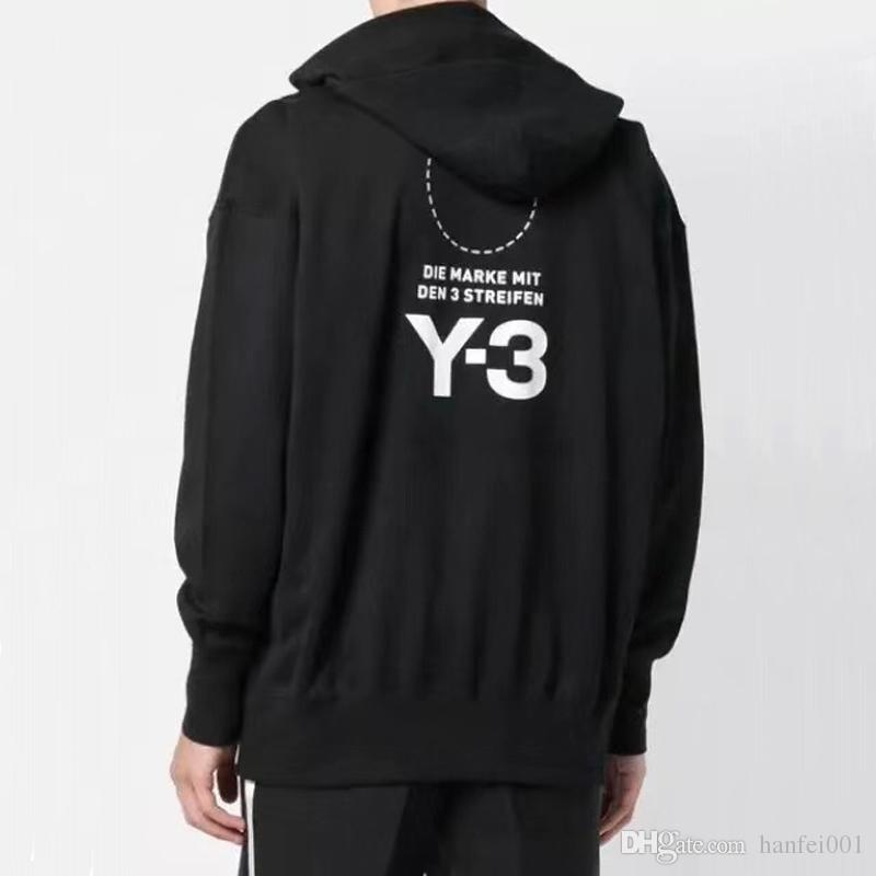 72348d2e15 18FW Y-3 Printed Embroidery Hoodies Sweatshirt Casual Pullover Street  Skateboard Hooded Cotton Sweater Hoodies HFLSWY175