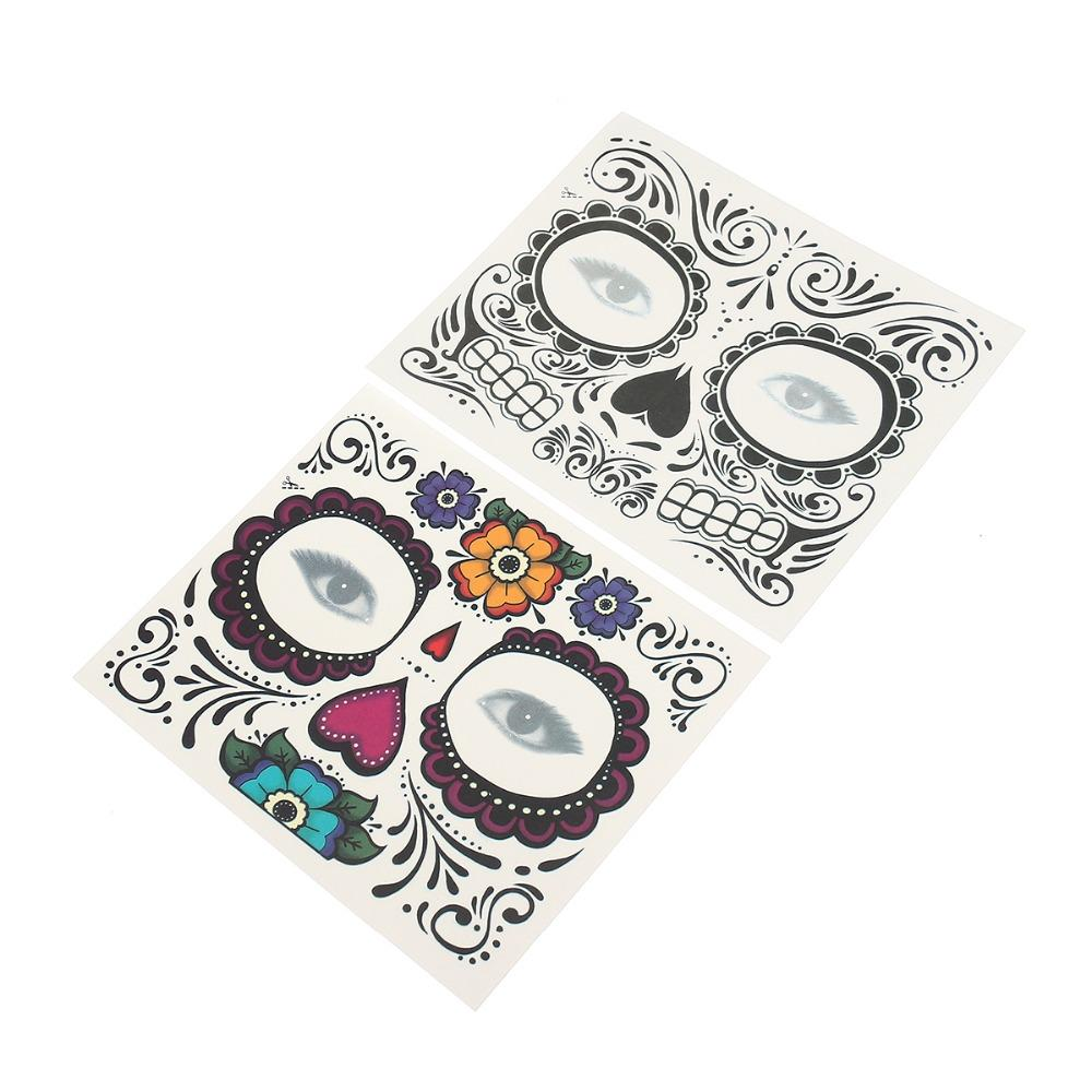 Disposable Eyeshadow Sticker Magic Eye Face Lace Style Waterproof Temporary Tattoo For Beauty Makup Stage Halloween Party