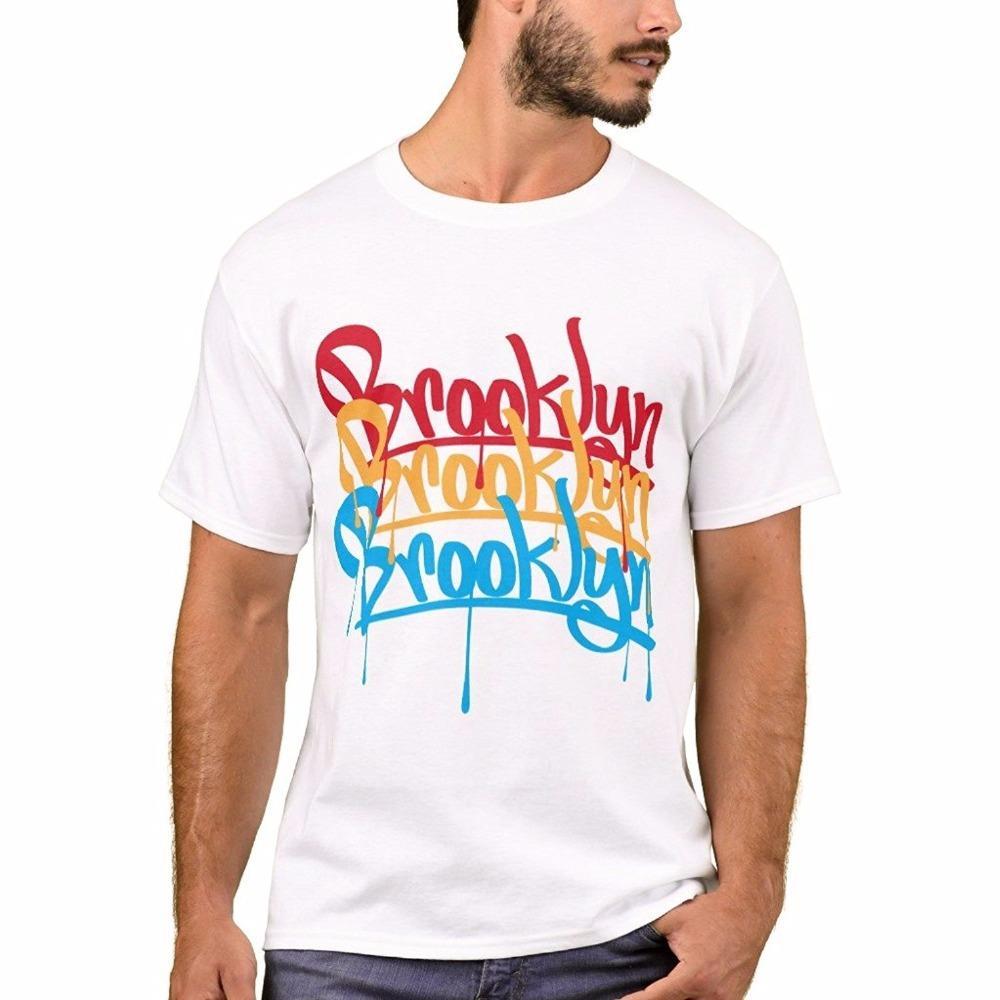 65abb42fa Online Custom T Shirts New Style Men Men'S Basic T Shirt Brooklyn Colors T  Shirt O Neck Short Sleeve Tee Shirt Designer Mens T Shirt Really Cool  Sweatshirts ...