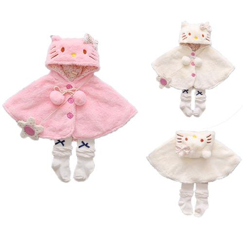 71ec4363b Pudcoco Infant Baby Cat Hooded Cloak Poncho Jacket Outwear Warm Coat ...