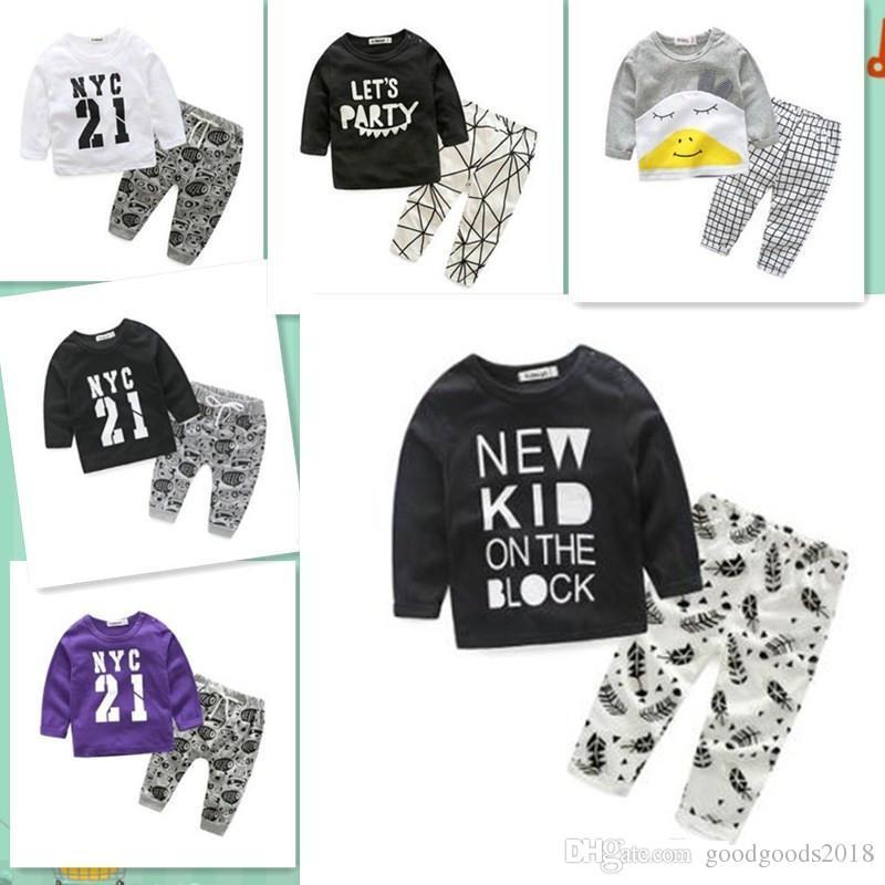 688b163efb02d 2019 2017 Baby Boys Clothes Newborn Baby Girls Cartoon Clothing Autumn  Winter Cartoon Cotton Shirt Baby Boy Clothes Set Long Sleeved C031 From  Goodgoods2018 ...