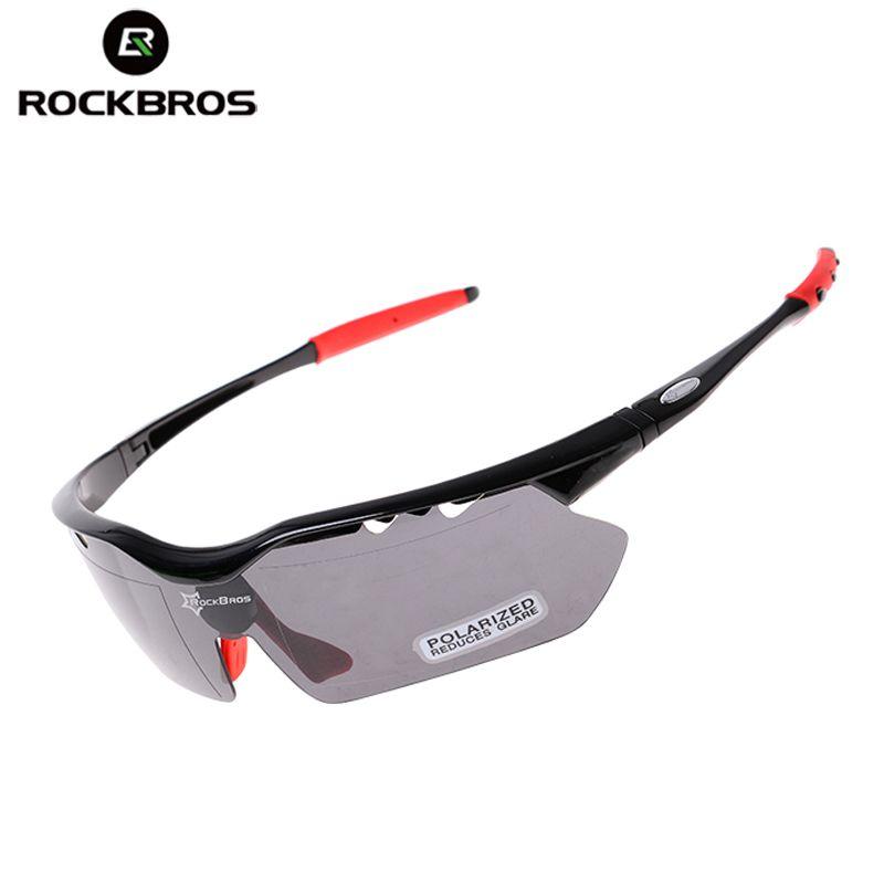 0bf1db6ca2b6d Compre ROCKBROS Ciclismo Óculos De Sol Polarizada Óculos De Ciclismo Homens  Mulheres Esporte Goggle À Prova De Vento 5 Lens Ciclo Eyewear Jogging  Bicicleta ...