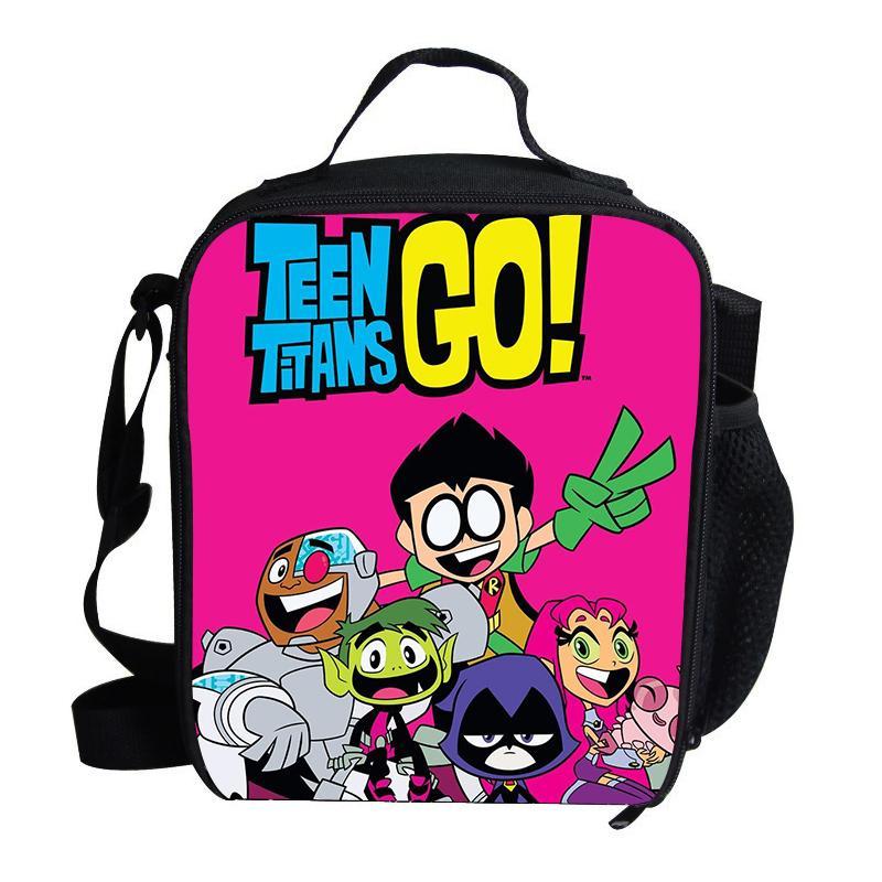 Bolsas Print Aislamiento Niñas Picnic Teen Go Con Bolsa Cartoon Bocadillos Térmico Para Almuerzo Niños Titans De yvfgIm76Yb
