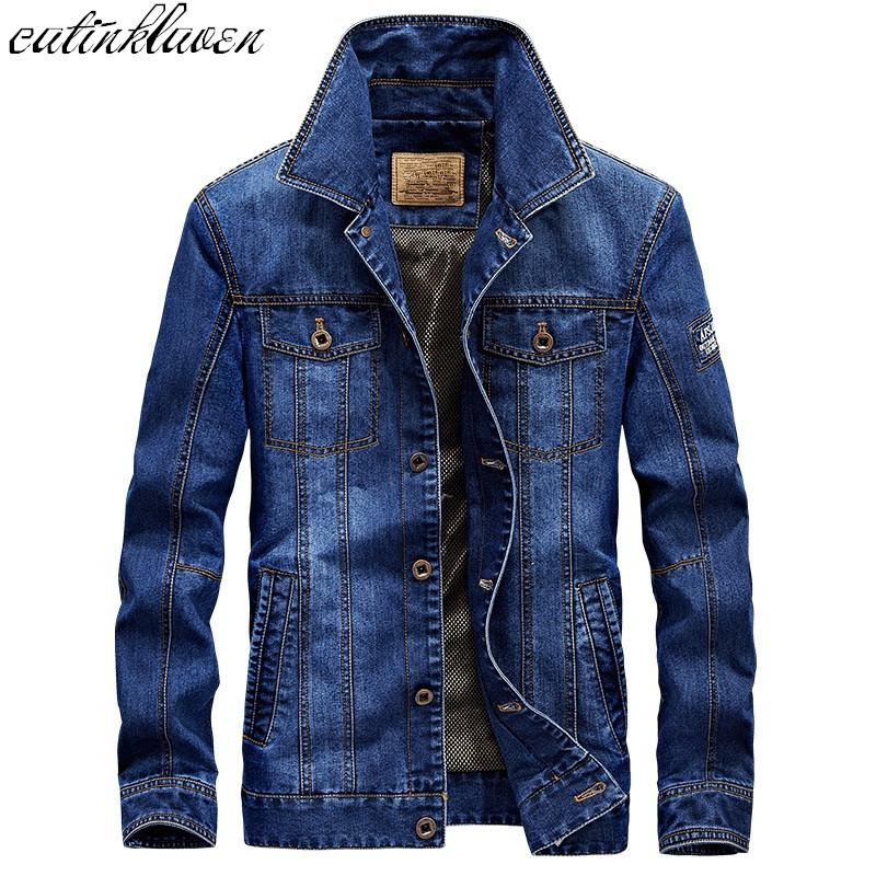 2017 Coat Autumn Winter Fashion Denim Jackets Men Jeans Slim Fit