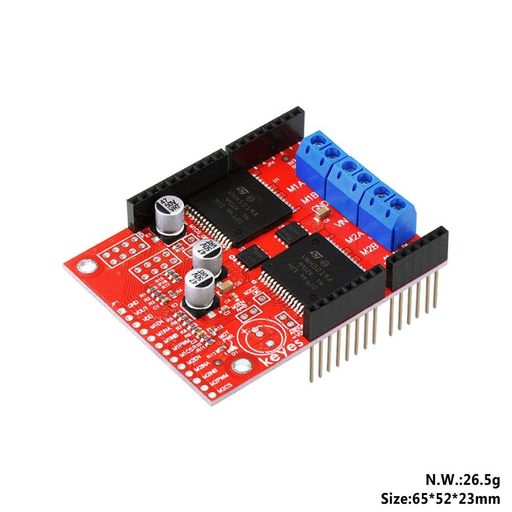 KEYES Dual High Power DC Motor Driver Shield VNH5019 Compatible with  ARDUINO (Environmental Protection)