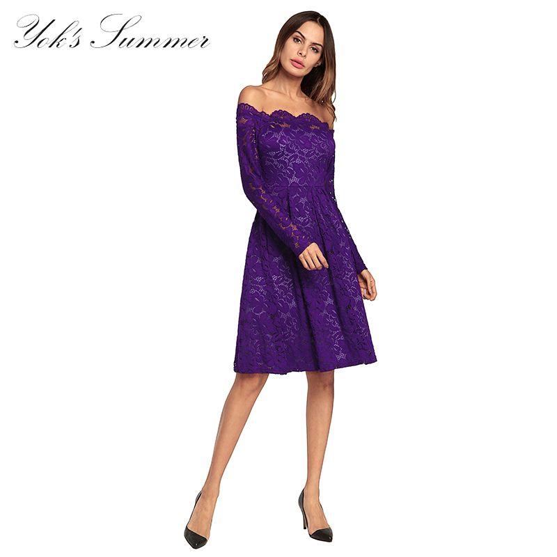 b5a7ecbc2d6 Acheter DIDI De L épaule Robes Femmes Mince À Manches Longues D été Sexy