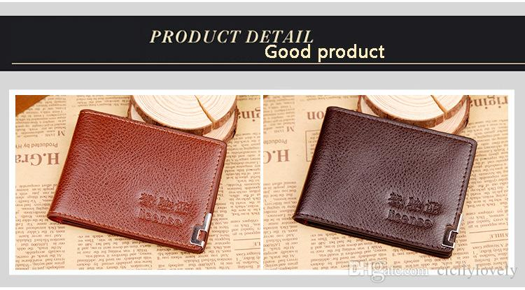Top quality mini wallet brand high-grade Really leather pocket card pack on the fold of imported original credit card package