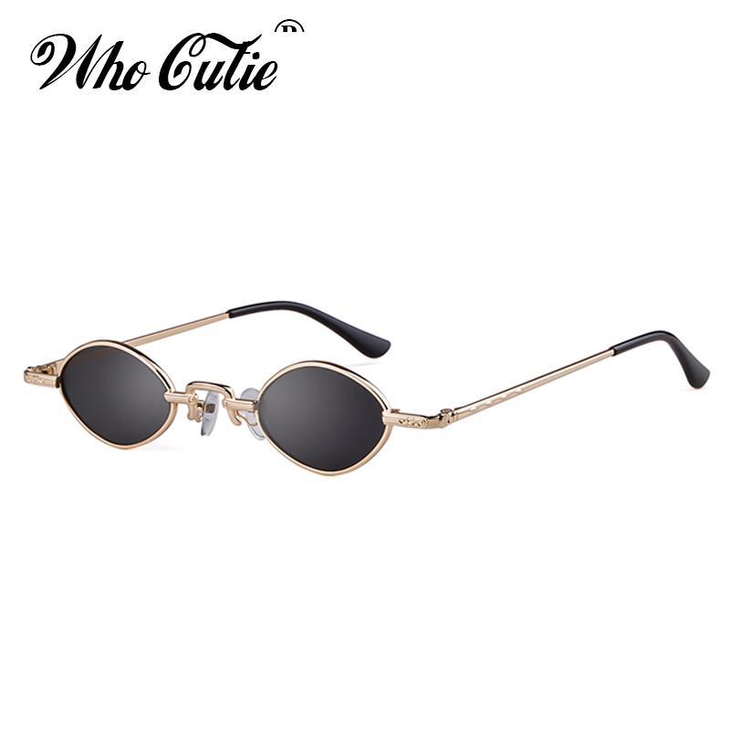 3f8c02d384 Compre OMS CUTIE 2018 Retro 90 S Fino Óculos De Sol Das Mulheres Designer  De Marca Fino Pequeno Quadro Pequeno Oval Óculos De Sol Preto Vermelho Rosa  Shades ...