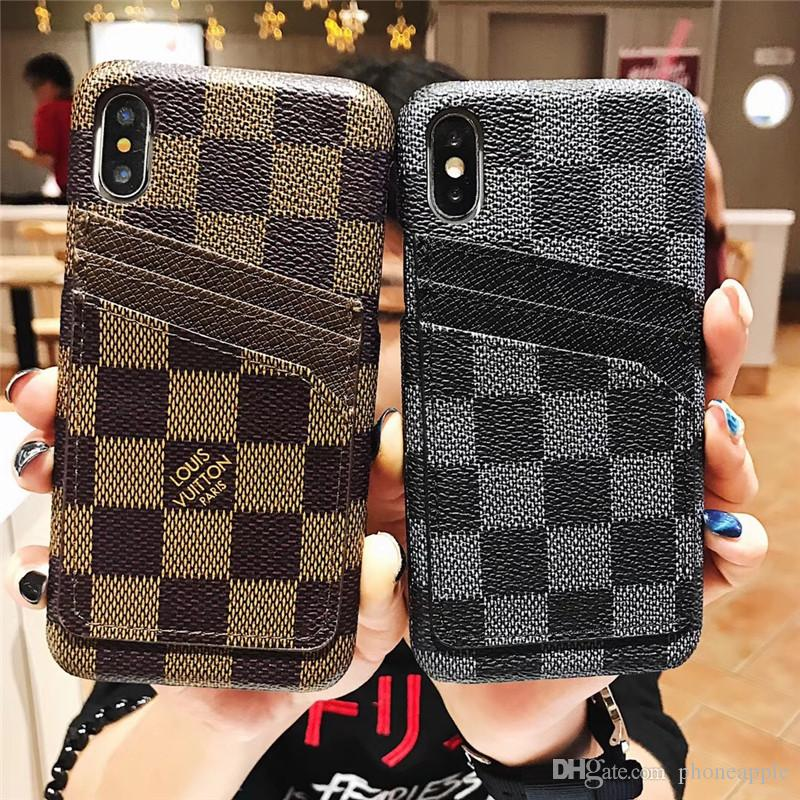 newest 7956a 9db29 Brand Card sLot Phone Case For Iphone XS MAX Phone Case for Iphone Brand  Designer Phone Case for iPhone X 678 Plus