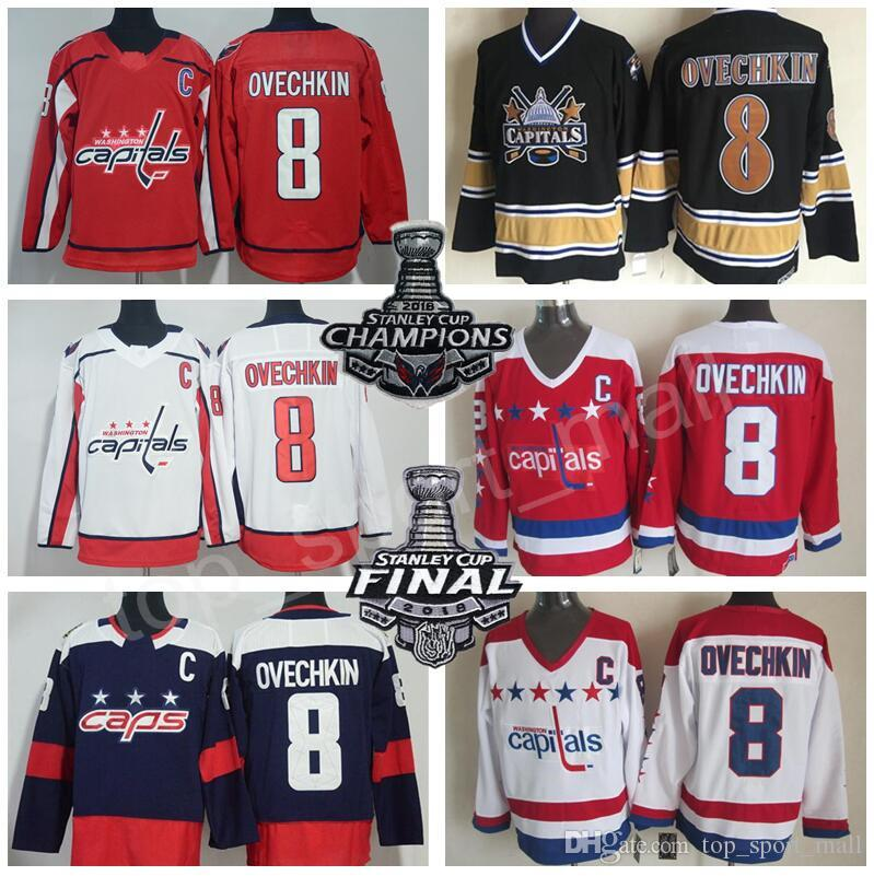 c19255e84df 2019 Man Kid Lady Hockey Washington Capitals Alexander Ovechkin Jersey 8  Alex Stadium Series Winter Classic Stanley Cup Champion Final 1990 Black  From ...