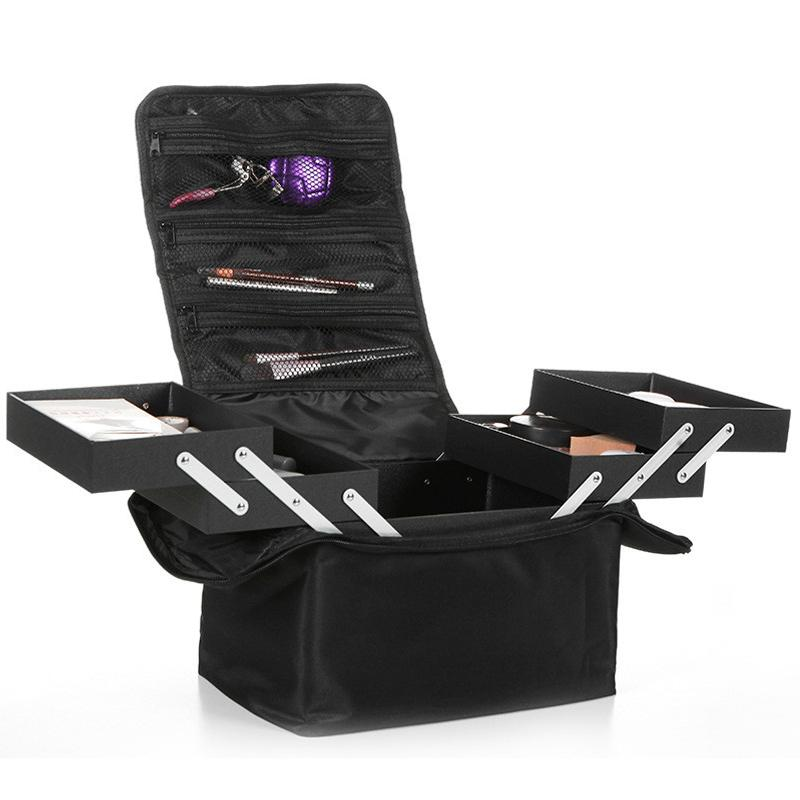 Die neue schulter doppel offene multi-layer professionelle make-up fall nagel tattoo make-up werkzeuge lagerung paket kosmetiktasche