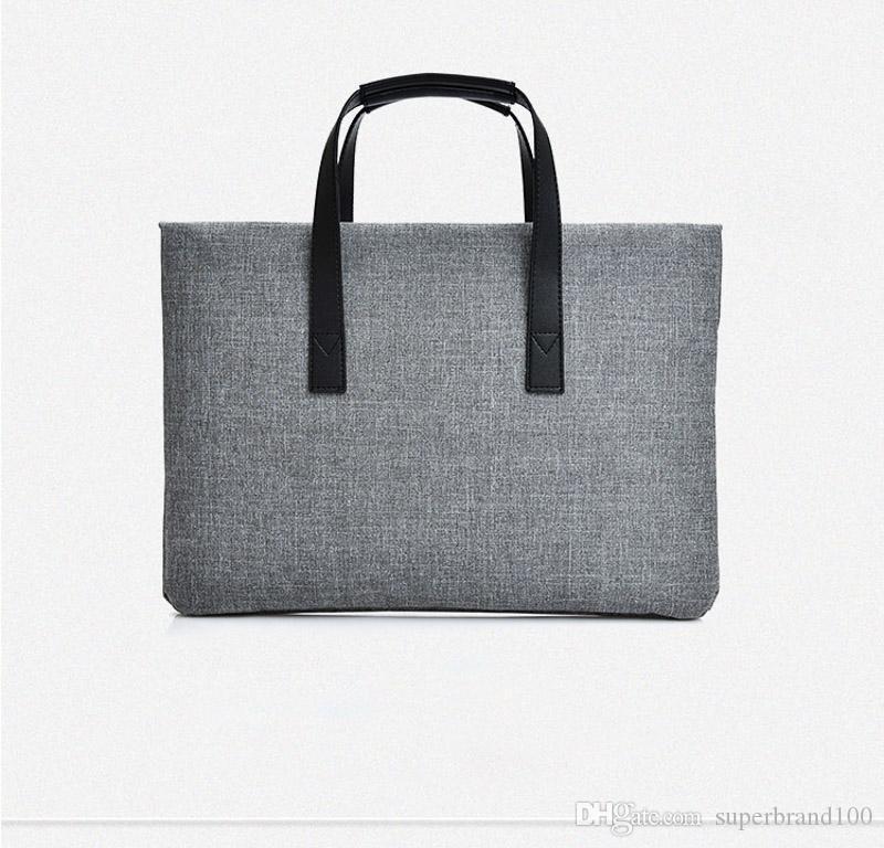 Laptop 14 Zoll Notebook Computer Taschen Männer Aktentaschen Fashion Solid Unisex Aktentaschen Einfache Business-Paket Für Frauen Handtasche