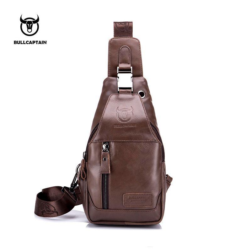 04ae41cd3c55 BULL CAPTAIN 2017 Fashion Genuine Leather Crossbody Bags Men Casual  Messenger Bag Small Brand Designer Male Shoulder Bag 095 Best Handbags  Handbags Sale ...