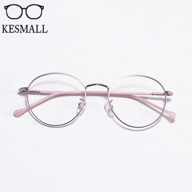 9e03c76dfcc 2019 KESMALL Women Metal Glasses Frame Men Optical Eyeglasses Frames Round  Shape Eyewear Prescription Myopia Glasses Frames YJ1253 From Xiamenwatch