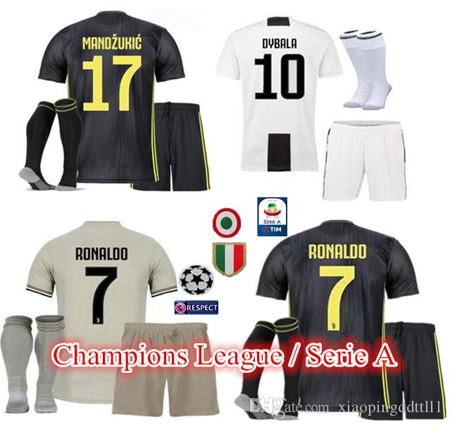 f0d646665 2019 18 19 Juventus Home Away 3rd Soccer Jersey Kit 2018 2019 Juve RONALDO  DYBALA D. Costa MANDZUKIC BUFFON Third Football Shirt Uniforms From ...