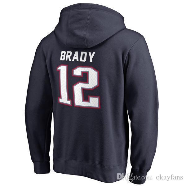 2b3850e6566ed Compre Sudaderas De Fútbol Americano New England Hombre Rob Gronkowski  Personalizado Cualquier Nombre Brady Sweatirts A  24.37 Del Okayfans