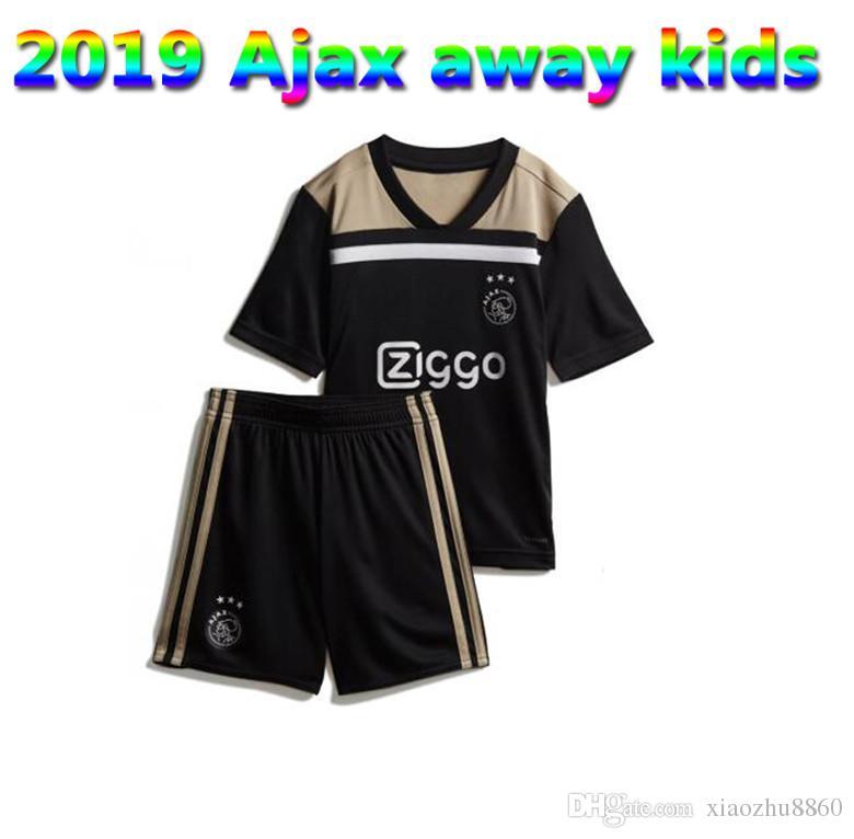 2019 Ajax Kids Soccer Jersey Kits 18 19 Ajax Away Negro Camiseta De Fútbol  Para Niños 2019 Personalizado   10 KLAASSEN   34 NOURI Camiseta De Fútbol  Por ... 7d613027fec4c