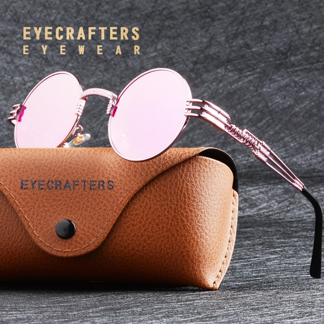 e766d7b28b Gold Metal Fashion John Lennon Round Sunglasses Steampunk Sunglasses Mens  Womens Retro Vintage Coating Mirrored Eyewear Shades Polarized Sunglasses  ...