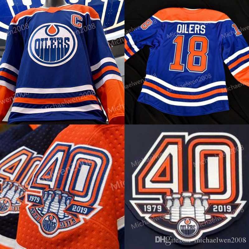 6a8e926d7 40th Anniversar 1979 2019 Patch Edmonton Oilers Ryan Strome ConnorMcDavid  Milan Lucic Leon Draisaitl Darnell Nurse Hockey Jerseys UK 2019 From ...