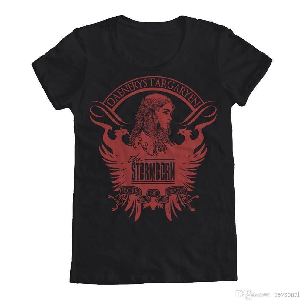Madre Streetwear De Estampadas Dragones Para Mujer Mejores Camisetas 2018 Las Juego Tronos Daenerys Hombres Camiseta Targaryen yYg7b6f