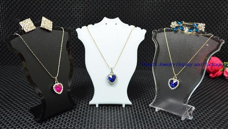 0dd76bb1f 2019 Popular Jewelry Display Stand Black White Clear Mini Size Plastic Neck  Bust Pendant Necklace Stand Earring Holder Set Stand Rack From Jltrading,  ...