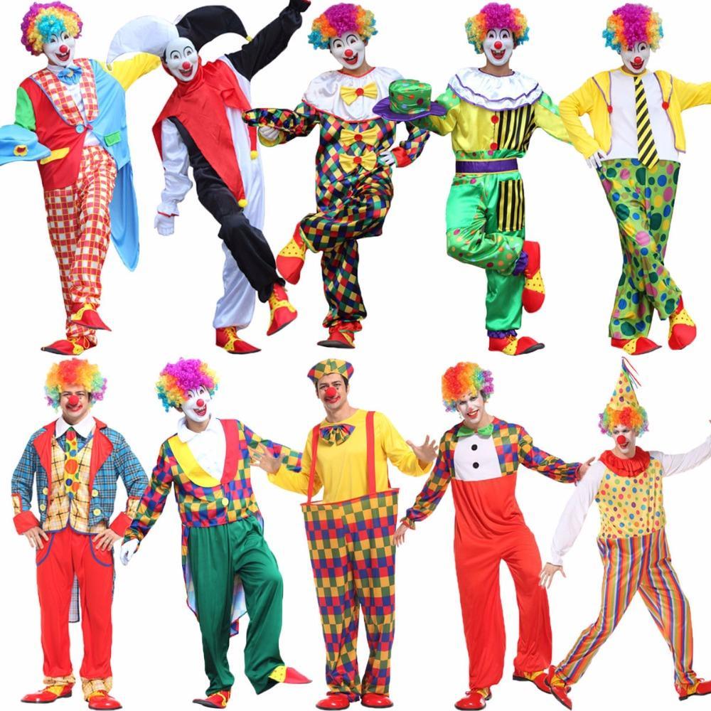 Grosshandel Umorden Halloween Clown Kostum Manner Erwachsene Kostum
