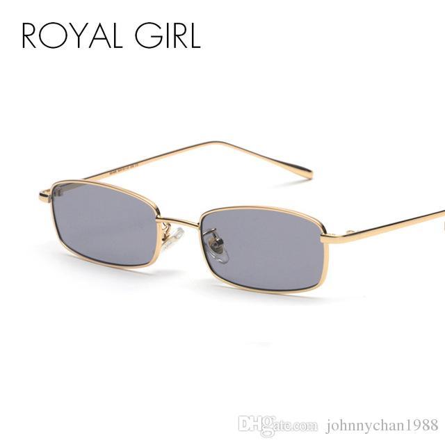612c16095c7 ROYAL GIRL Retro Rectangle Sunglasses Men Women 2018 New Small Metal Frame  Clear Lens Square Sun Glasses Vintage Shades ss016