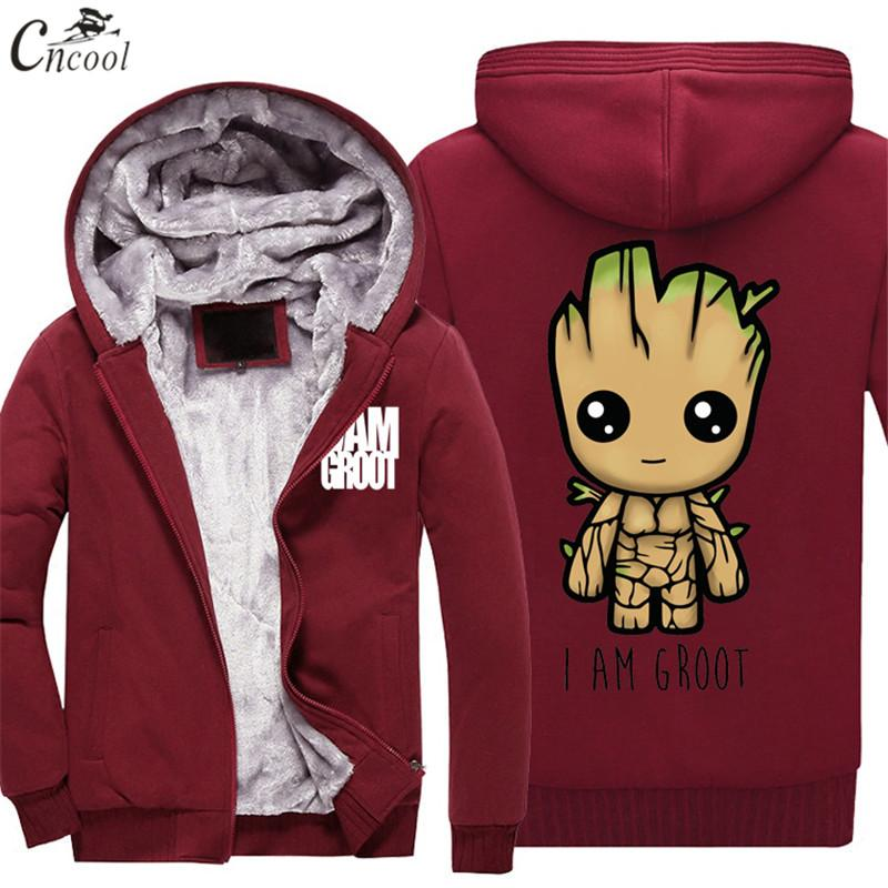 b5e2eadc5 2019 New Guardians Of The Galaxy Groot Sweatshirts Fashion Cotton Men  Hoodies Velvet Thickening Cool Printed Sweatshirts Men Clothing From  Firstcloth, ...