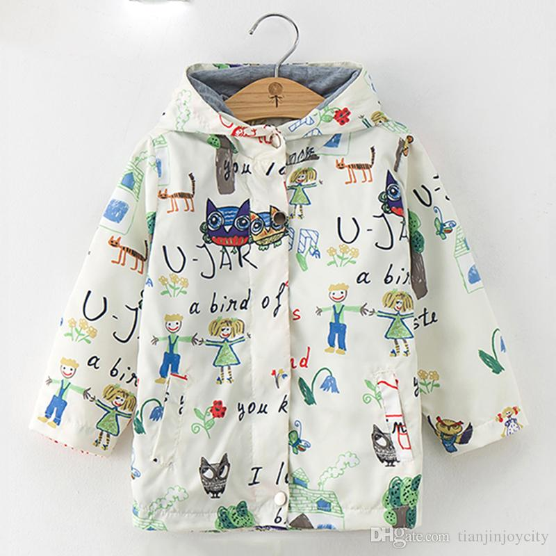 b189d6965927 Bear Leader Kids Coats 2018 New Autumn Fashion Cartoon Animal Print ...