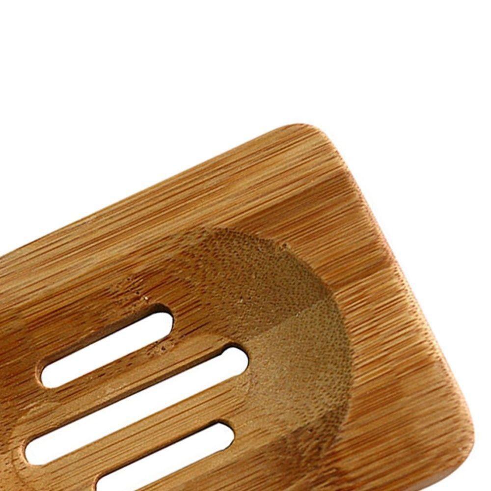 Nova chegada Quente Em Todo O Mundo De Madeira De Bambu Natural Saboneteira Titular De Armazenamento De Banho De Chuveiro Prato de Banheiro