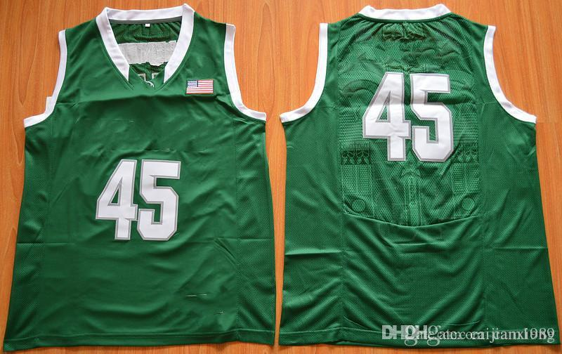 2019 2016 New  45 Denzel Valentine College Men Basketball Jersey Green  Stitched Men S Sport Jersey Size S 3XL From Cam1989 629f8420f