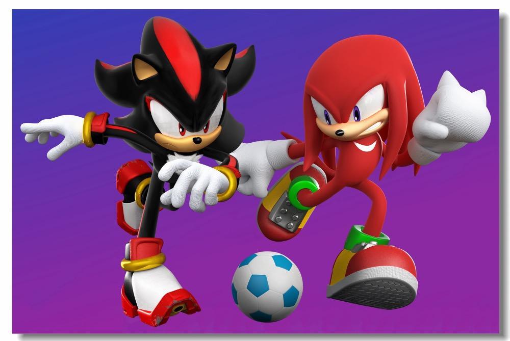 Custom Canvas Wall Decor Super Smash Bros Poster Shadow Sonic