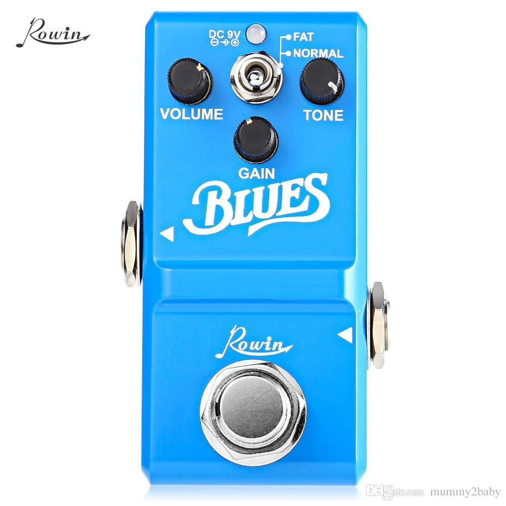 ROWIN Blues Style Overdrive Box Guitar Effect Pedal True Bypass Design Aluminum Alloy Housing With wide range frequency response
