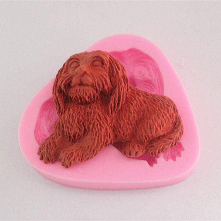 Loyal dog silicone candy cake mold chocolate mold clay mold