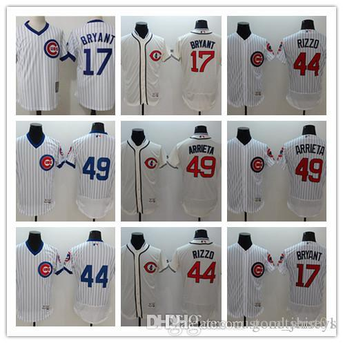 2019 Custom Men Women Youth Cubs Jersey  17 Kris Bryant 44 Anthony Rizzo 49  Arrieta Blue Grey White Baseball Jerseys From Goodtshirt01 da1df8c7ed