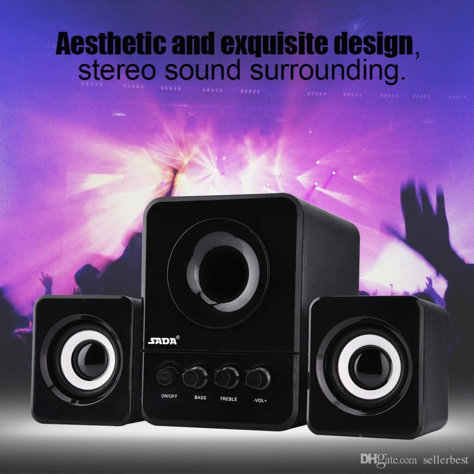صدى D-203 البسيطة المهنية رئيس USB 2.1 السلكية الجمع المتكلم باس مشغل موسيقى مضخم صوت لالهواتف المحمولة أجهزة الكمبيوتر المحمول