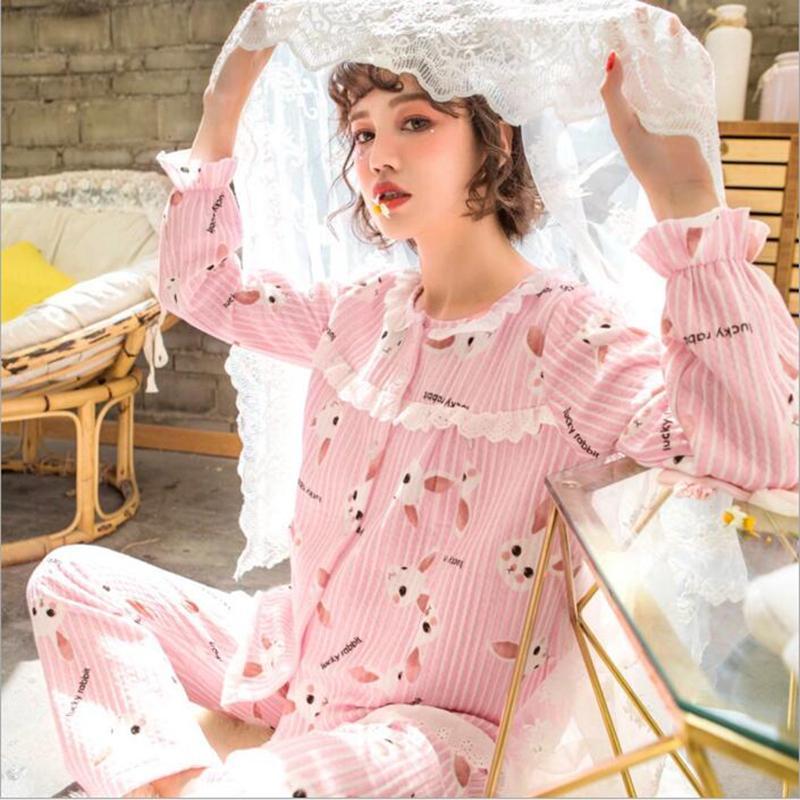2019 Cotton Comfortable And Warm Maternity Nursing Nightwear Spring Autumn Fashion  Sleepwear For Pregnant Women Pregnancy Pajamas From Localking 8da5e1a56