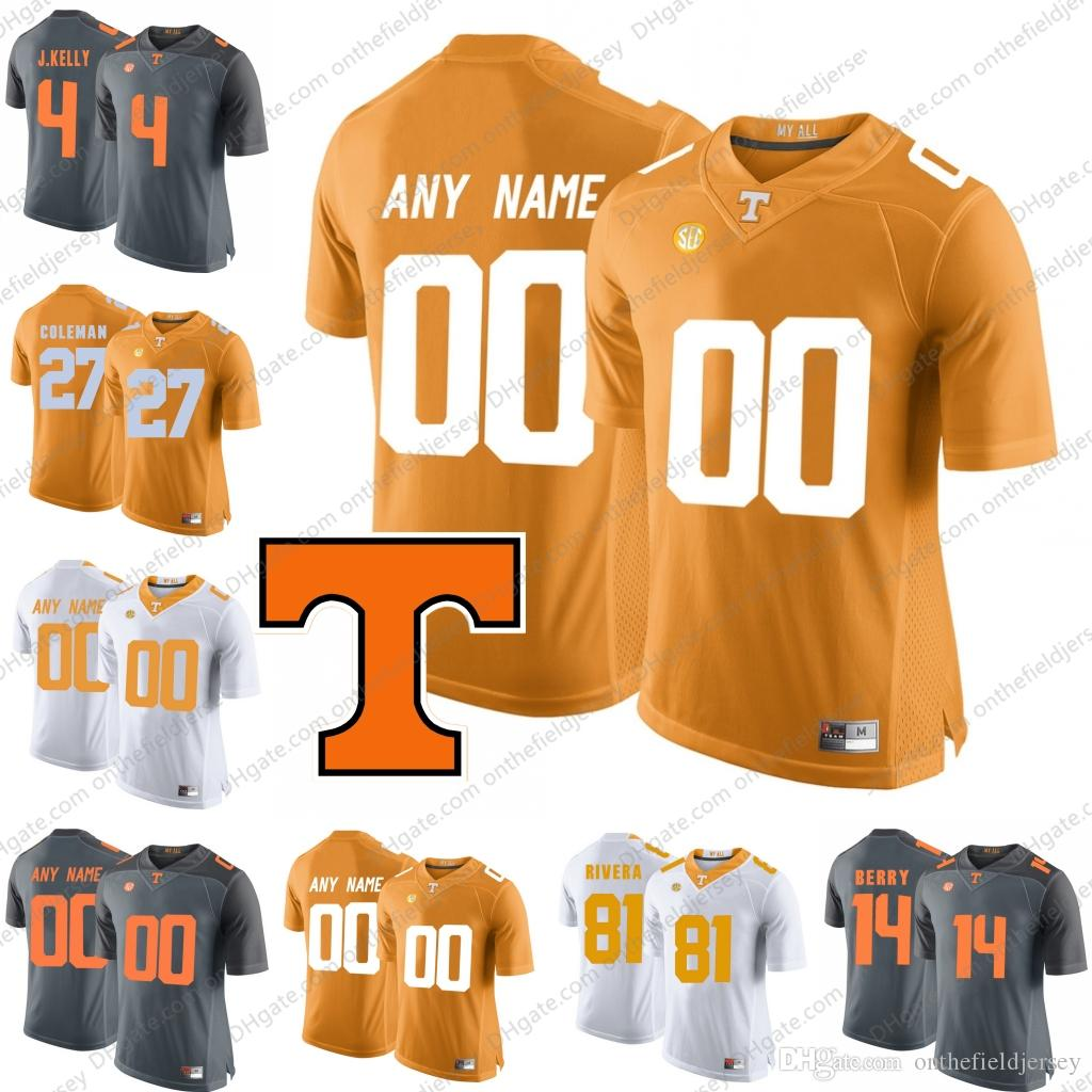 new style 67f0e 4618f Custom Tennessee Volunteers #1 Jalen Hurd 4 John Kelly 11 Joshua Dobbs 16  Peyton Manning Any Name Number College Football Jerseys S-3XL