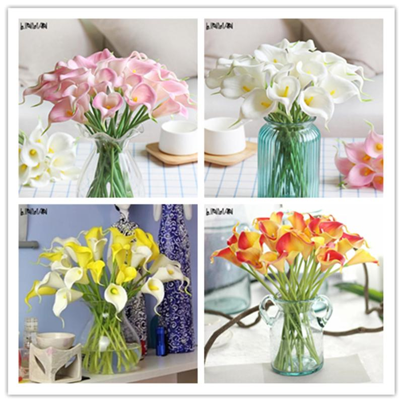 2018 Artificial Flowers Calla Lily Latex Decorative Flowers For ...