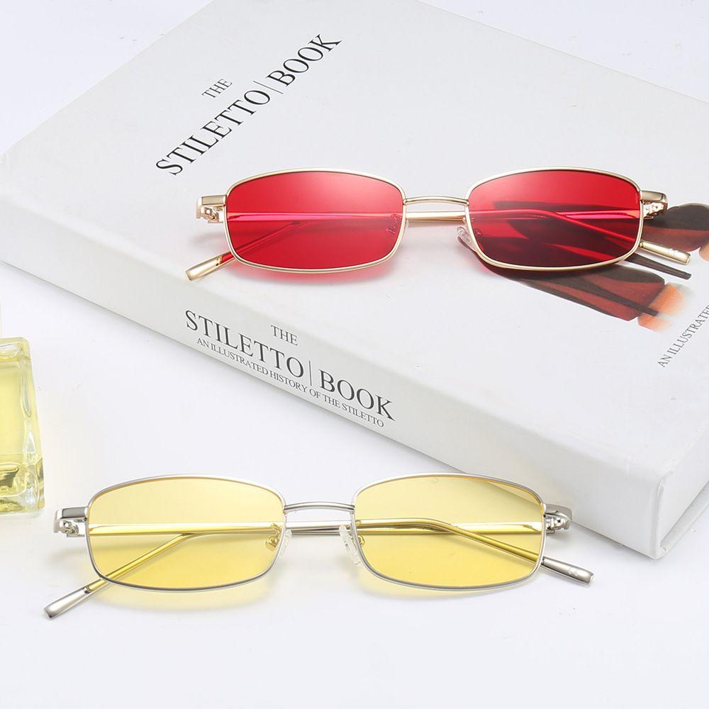 ffce91eba97 Mens Rectangular Sunglasses Steampunk Men Metal Frame Gold Black Red Flat  Top Square Sun Glasses For Women 2018 NX Vuarnet Sunglasses Bifocal  Sunglasses ...