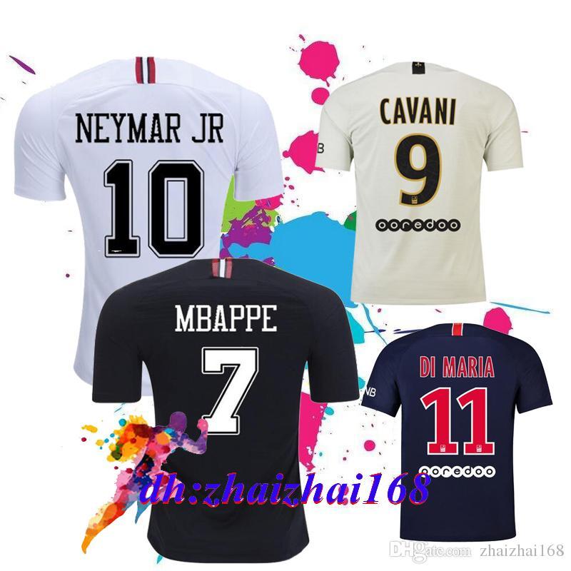 Thailand Maillots PSG Soccer Jersey 2019 Paris MBAPPE Saint Germain ... fd2f744813