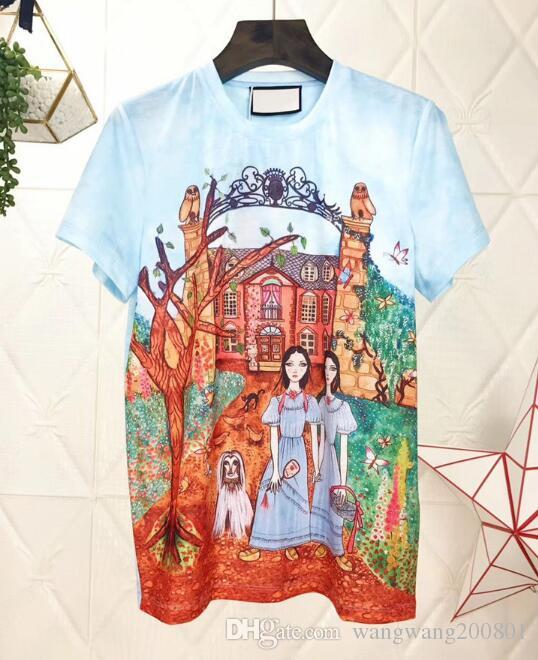 f2c517d894c 2018 Spring And Summer New Fairy Tale Manor Dyeing Printing Round ...