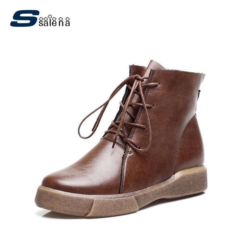 size 40 63a73 5429a SSALENA Motocross Stiefel Damen Soft Footwear Klassische Stiefel Damen  Bequeme Outdoor Schuhe A893