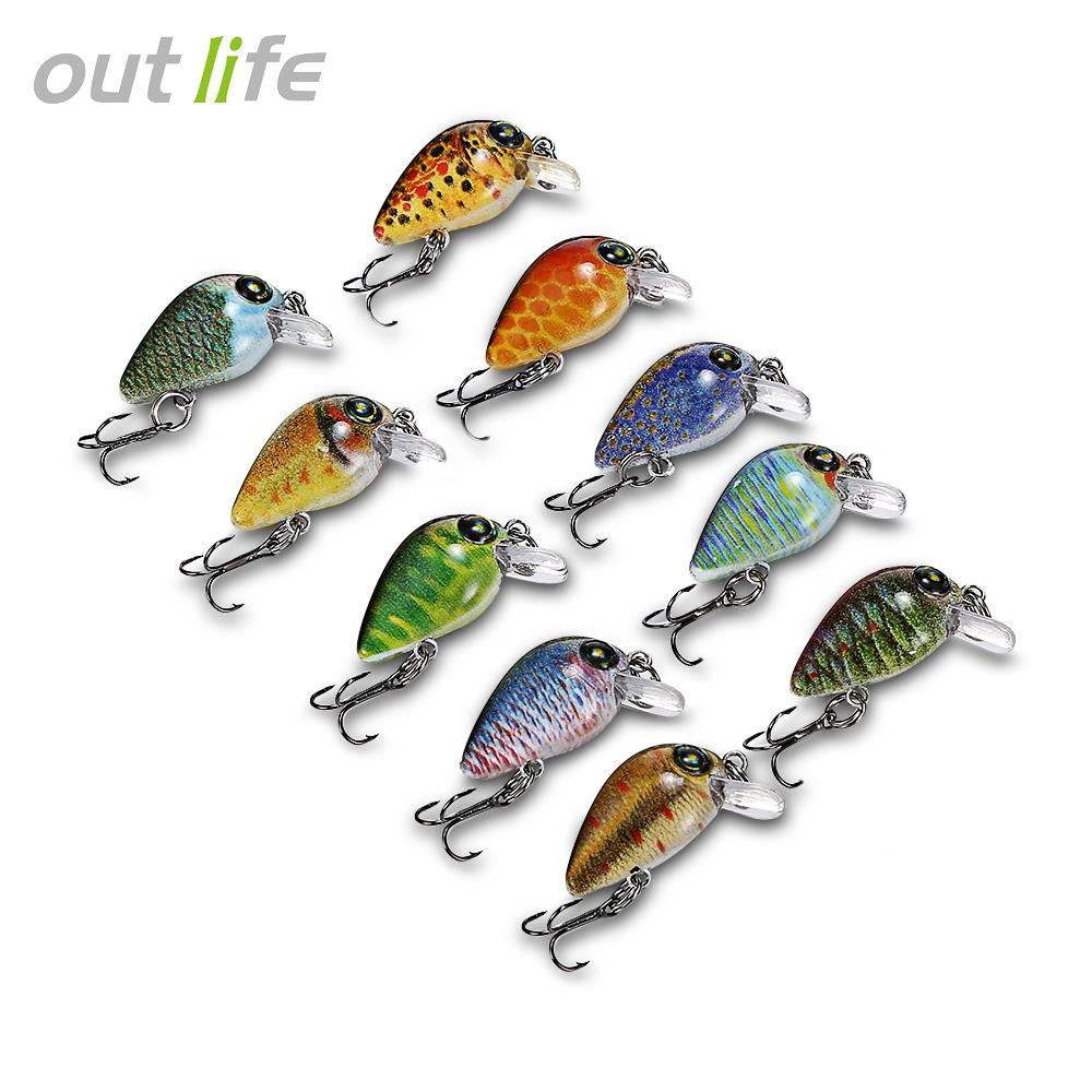 10pcs Fishing Lures Hard ABS Crank Artificial Baits set Carp Fishing Tackle Minnow Lure kit Diving depth 0.2-0.6m Hooks tackles storage Box
