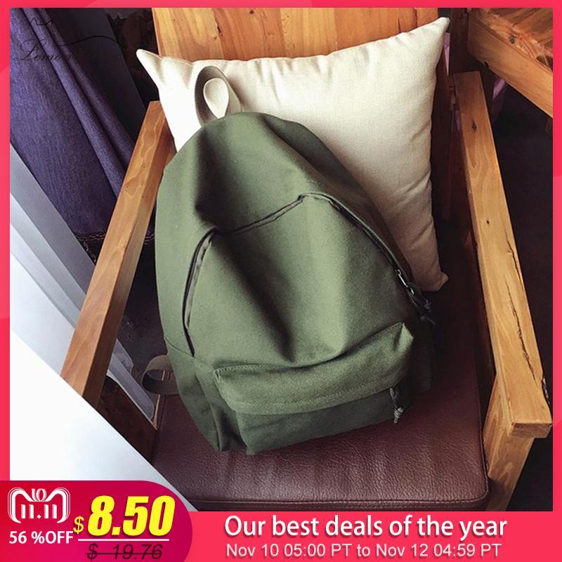 ee50397ac0 2018 Canvas Plain Women Backpack New Japan Ring Leisure Travel Backpack For  Girl Female Shoulder Bag Rucksack Mochila My Bagpack Y18110201 Mochilas  Jansport ...