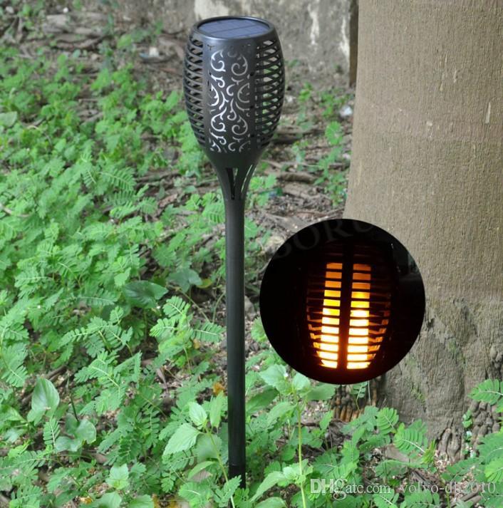الطاقة الشمسية مصباح حديقة ماء 96 المصابيح تيكي الشعلة الخفيفة فناء في الهواء الطلق الطاقة الشمسية الرقص اللهب الخفقان مصابيح الديكور LLFA