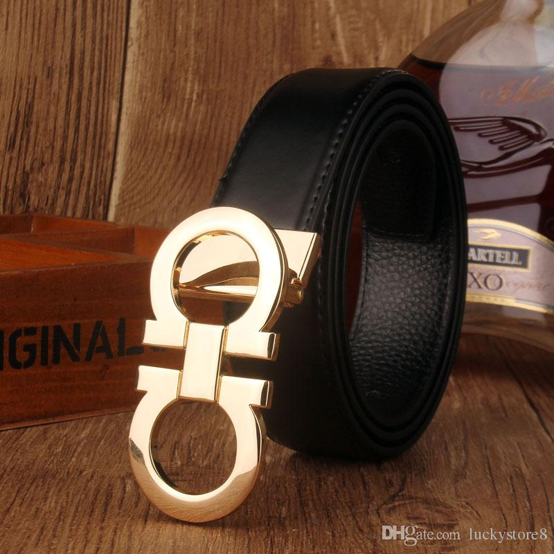 Smooth leather belt luxury belts designer belts for men big buckle belt male chastity belts top fashion mens leather belt wholesale