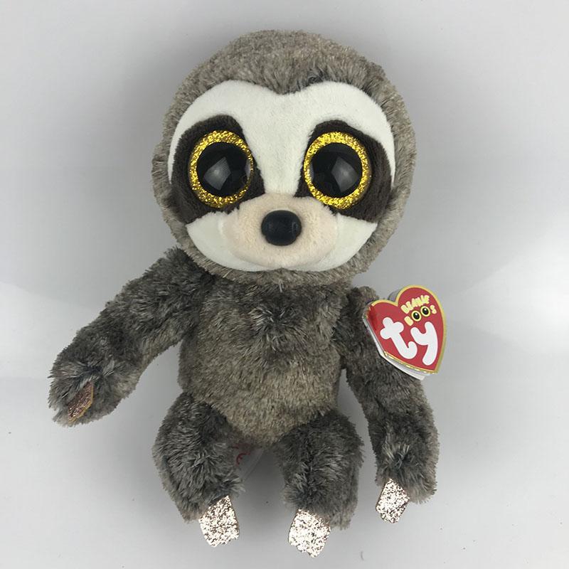 2019 Ty Beanie Boo Dangler Sloth Dragon Cat Penguin Owl Pig Dragon Wolf Cat  Fox Dog Plush Toy Doll Stuffed Animal From Babymom 5db12583138a