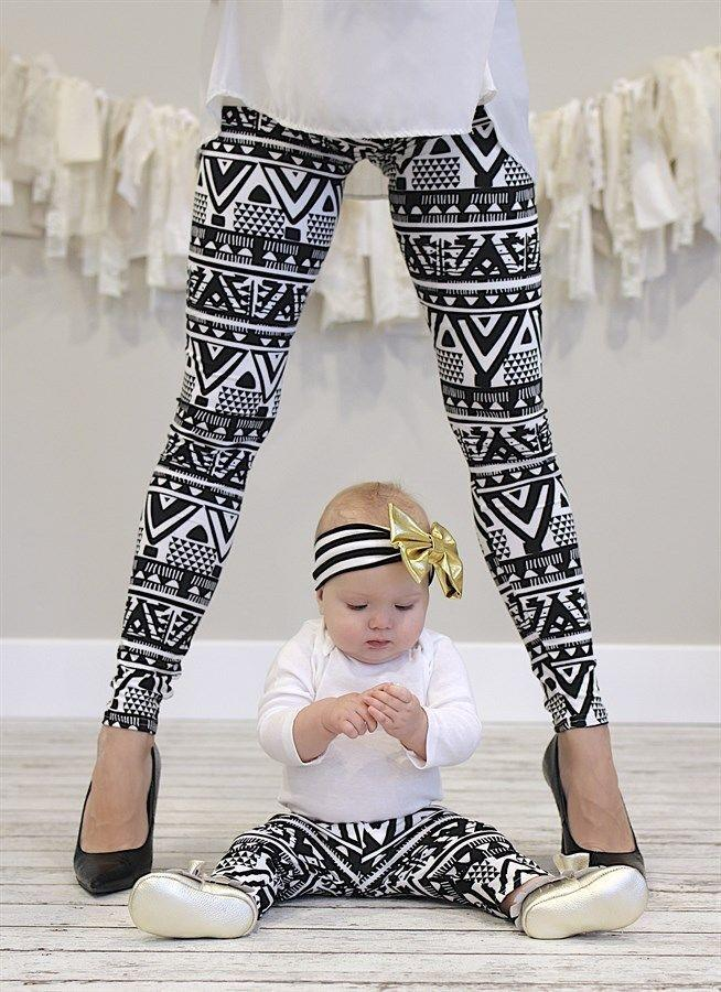 Mother And Daughter Leggings Family Match Outfits Mommy Me Clothes Leggings  Mom And Baby Matching Pants Christmas Family Look Mother Daughter Matching  ... 0fe9ef017