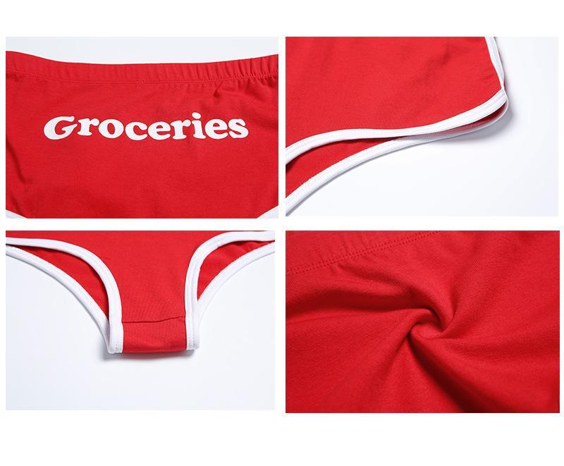 GraceQueen cueca de algodão mulheres cuecas de algodão cuecas fábrica atacado sexy tecido macio com letras partido para meninas quentes